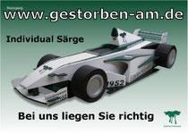 Formel 1 Fan Sarg Individual Särge