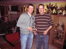 Sieger Michael Enxing und Karsten Becker (1.Vorsitzender)