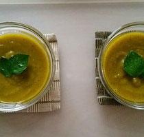 たまねぎを使ったカボチャのスープ