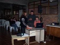 Directora Mary Borba-Insp. Regional Fredy Amaro y Coord. EPUMA Prof. Gastón SM