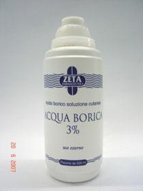 flacone acqua borica 3%