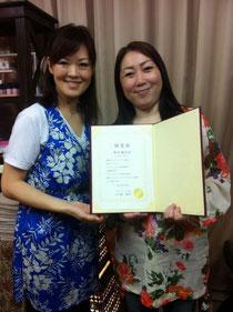 台湾式とアロマリンパの2コースを受講。Iさん