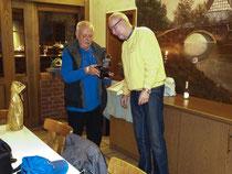 Walter Hausmann und der 1. Vorsitzende Dieter Heidenreich