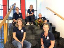 Von unten nach oben 1. Vorsitzende Madlen Missal, 2. Vorsitzende Ines Wagner, Kassenwartin Birgit Fox, Schriftarten Nicole Bossen und Beirat Beate Schnoor