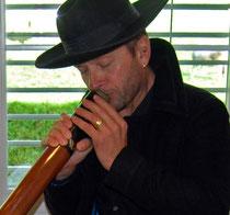 Franz Zettel mit Digeridoo