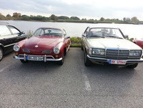 Mercedes W123 Coupe & VW Karmann Ghia