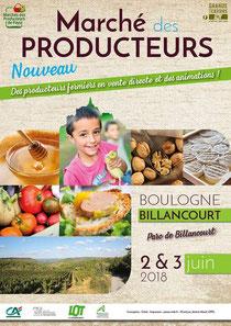 Boulogne Billancourt.  Marché de producteurs.  Safranière La Borie Blanche