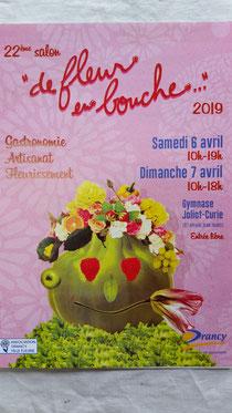 6 et 7 avril 2019 salon de fleur en bouche à Drancy