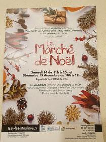 Marche de Noël à Issy les Moulineaux le 14 et 15 décembre 2019