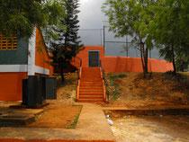 Play de Baseball del complejo Deportivo de La Roamna.