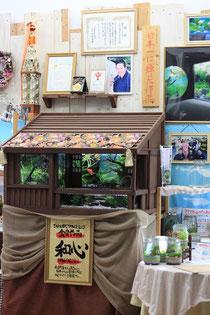 水草作家てっちゃん先生の美草の恵み 店内にて。