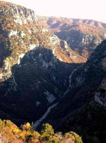 Vikos Gorge in sunset