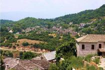 View of Megalo Papingo from Mikro Papigo