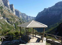 Panoramic view to Vikos Gorge from Vikos village