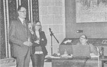 Juan Carlos Moreno, Belén Luque y Anabel La Peña, al inicio de la conferencia
