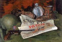 «8 mai 1945, c'est fini» 1945, 38x45cm, GU19