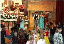 Kinderprinzenpaar, Prinzenpaar und Kindergarde beim Pockinger Kinderfasching 2008 in der Stadthalle Pocking