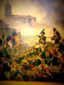 """Schlachtenszene im """"Guerra de la Independencia"""""""