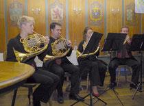 Das Waldhornquartett CORdial hat auf musikalisch hohem Niveau die Jubiläums- feier besonders bereichert. (Fotos © R. Kornder)