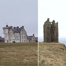 Keiss Castle and Old Keiss Castle