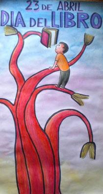 Cartel anunciador del Día del Libro 2010