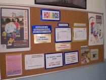 Tablón de anuncios de la biblioteca
