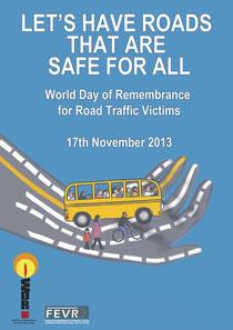 2013年の世界交通犠牲者追悼の日ポスター