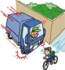 歩道自転車衝突
