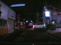 夜間 見通しの悪い交差点