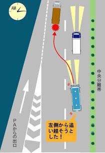 倉敷市山陽自動車道高速バス追突