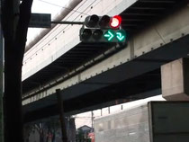 東京都内に設置されていた右折+転回矢印