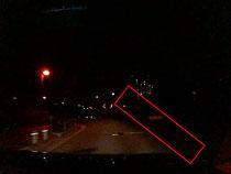 ヘッドライト照射範囲