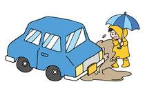 雨の日の運転 交通安全 事故防止 安全運転管理 運行管理 教育資料 ドライバー教育 運転管理