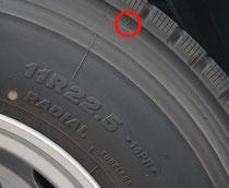 タイヤ スリップサイン