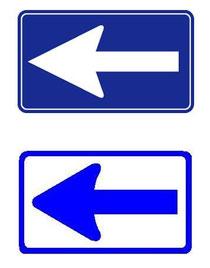 一方通行」と「左折可」の標識 ...