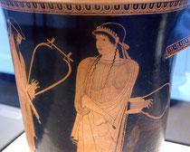 Sappho Kalathos um 470 v. Chr.