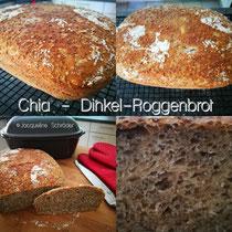 Chia-Dinkel-Roggenbrot