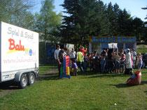Am Mittwoch auch dabei: das Spielmobil BALU, das der SJR in Kooperation mit der Jobelmann-Schule in Stade betreibt
