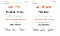 Zertifikate Toyota Master Technician