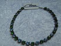 Collier grün-blau (Swarovski-Steine) (9239)