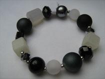 Armband schwarz-weiß (7260)