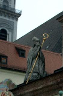 Bischofsstadt Freising - Detail von der Mariensäule