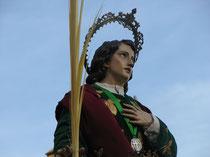 """""""San Juan Evangelista. (San Juan el Guapo)"""". Foto cedida por hermano de la cofradía."""