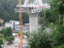 Pont de la Poya en construction