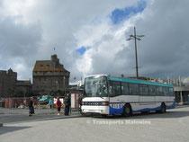 Le Kassbohrer Setra 215 SL numéro 57 du réseau KSMA de Saint-Malo Agglomération au départ de Saint-Vincent sur la ligne 8.