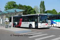 Un Irisbus Crossway LE à la Gare Routière de St-Malo, prêt à s'élancer sur la ligne 16A du réseau Illenoo, qui reste aujourd'hui le principal lien entre Saint-Malo et Dinard.