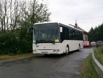 Passage d'un Irisbus Crossway LE de démonstration au Passage à Niveau 46.