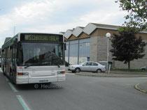 Le Heuliez Bus GX 217 numéro 43 du réseau KSMA de Saint-Malo sur le service 40S en direction de Chateau-Malo.