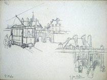 Vues du tramway électrique à St-Vincent.