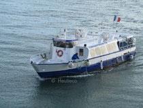 La Passagère 3, navire exploité par la Compagnie Corsaire sur le bus de mer, entre Dinard et Saint-Malo.